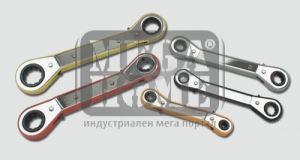 Комплект звездогаечни ключове с тресчотка 5бр. Mannesmann