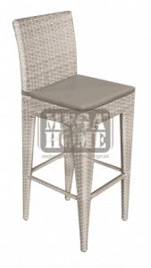 Градински бар стол GG-BC336 със сива възглавница