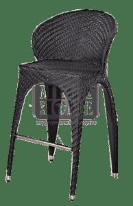 Градински бар стол Como black CY 9961