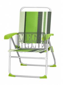 Алуминиев къмпинг стол зелен HG 40164BT