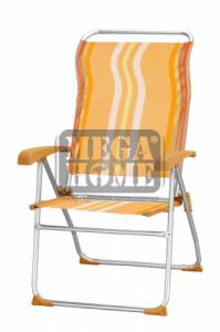 Къмпинг стол оранжев HG 40166BT