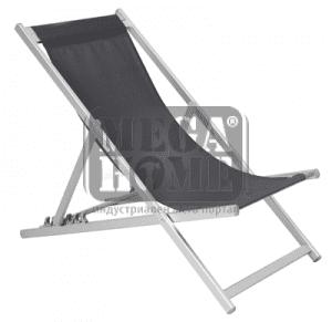 Плажен стол сив 40416TC