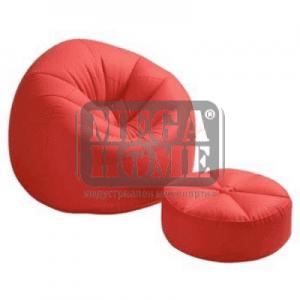 Ергономичен фотьойл с табуретка Intex