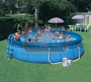 Семеен  басейн с  филтърна помпа Easy Set Intex