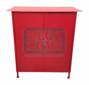 Пожарен шкаф  червен