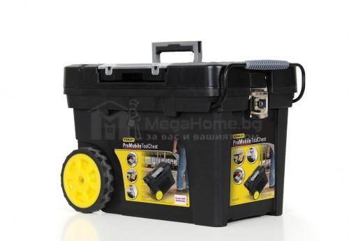 Пластмасова кутия за инструменти на колела 603х375х430мм Stanley