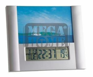 Електронен часовник с  термометър и с фоторамка