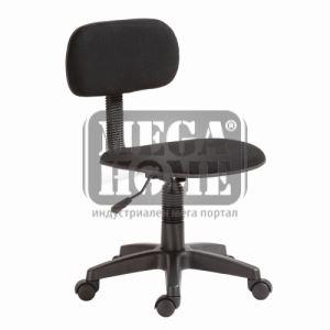 Офис стол без подлакътниици, черен цвят