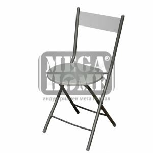 Бял сгъваем стол