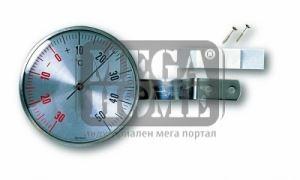 Термометър за прозорец инокс