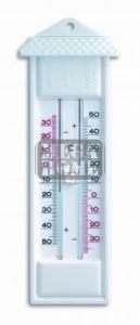 Термометър с бутон за максимална и минимална температура бял