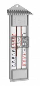 Термометър с бутон за максимална и минимална температура сив