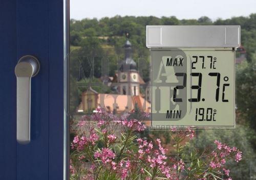 Дигитален самозалепващ термометър за прозорец