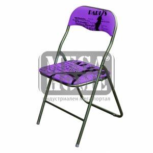 Сгъваем стол в лилав и червен цвят