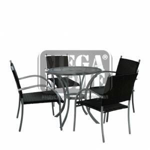 Комплект маса с четири стола