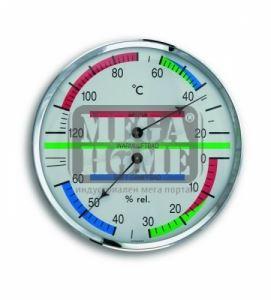 Термометър с хидрометър за сауна ф136 х 37 мм с метален пръстен