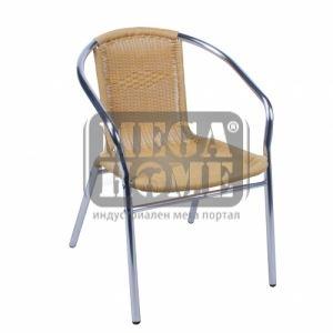Алуминиев ратанов стол