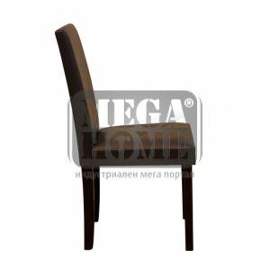 Трапезен стол - кафяв и кремъв цвят