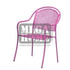 Градински стол - лилав и зелен цвят