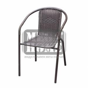 Градински стол - кафяв стол