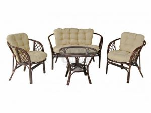 Комплект маса с диван и две кресла