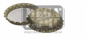 Метални капачки с корк ф26 см 100 бр