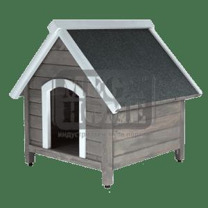 Сива къща за куче L