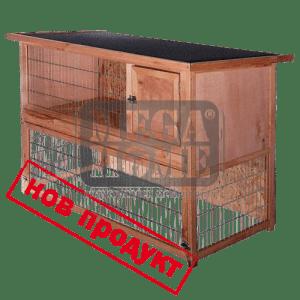 Къща за зайци и морски свинчета на два етажа