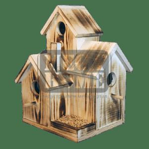 Тройна къща за птици