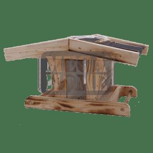 Хранилка за птици с изолиран покрив