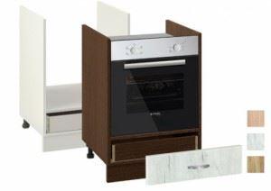 Кухненски шкаф за печка за вграждане 601 Ф с чекмедже