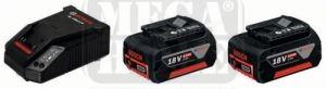2 акумулаторни батерии Bosch - CoolPack+зарядно Bosch AL1860