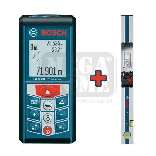 Лазерна ролетка Bosch 80 метра + измервателна рейка