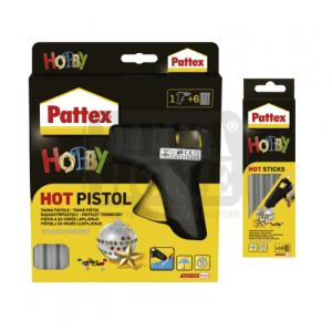 Комплект пистолет и патрони за горещо лепене Pattex