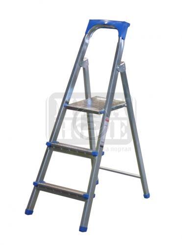 Алуминиева стълба 2 плюс 1 стъпала