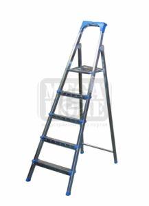 Алуминиева стълба 4 плюс 1 стъпала и платформа