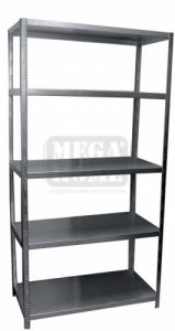 Стелаж метален сив Premium рафт 5 х 90 кг
