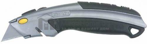Макетен нож с метален корпус  180 мм с магазин за остриета