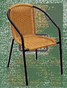 Стол ратан метал