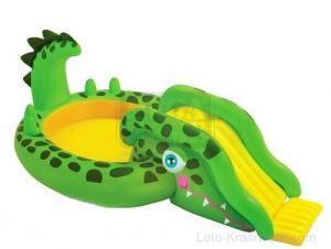 Детски басейн за игра надуваем крокодил Intex