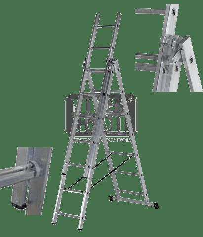 Алуминиева стълба три секторна