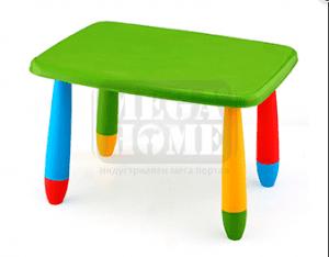 Детска правоъгълна пластмасова маса