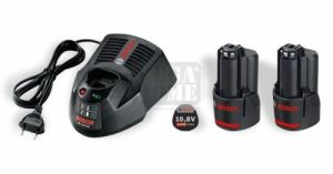 Стартов комплект Bosch 2 x GBA 10,8 V 2,5 Ah O-B + AL 1130 CV