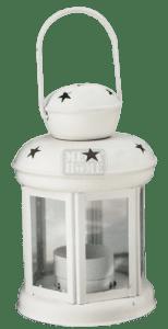 Декоративен фенер CN бял YW1026-15-W 6167