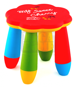 Детско пластмасово столче цвете LXS-309