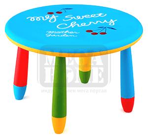 Детска пластмасова маса кръг Ф 70 см LXZ-101