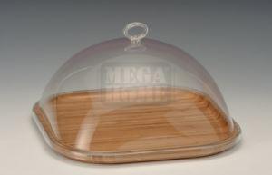 Бамбуков поднос за сирена с акрилен капак AN
