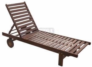 Дървен шезлонг Класик 193 x 60 x 30 см C3017D
