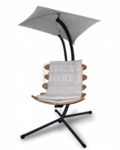 Дървен висящ стол 115 х 102 х 200 см
