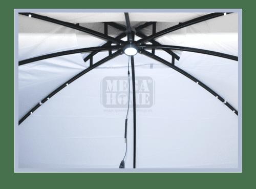 Градинска Шатра Лукс 3 x 3,6 м бяла 5520L - B 108021